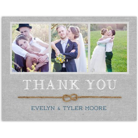 Rustic Twine Wedding Thank You Postcard