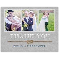 Rustic Twine Wedding Thank You Postcard