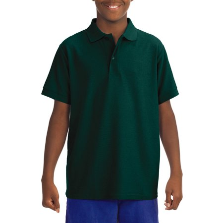 Jerzees School Uniform Short Sleeve Wrinkle Resistant Performance Polo Shirt (Little Boys & Big Boys) (Polo Sport Clothing)