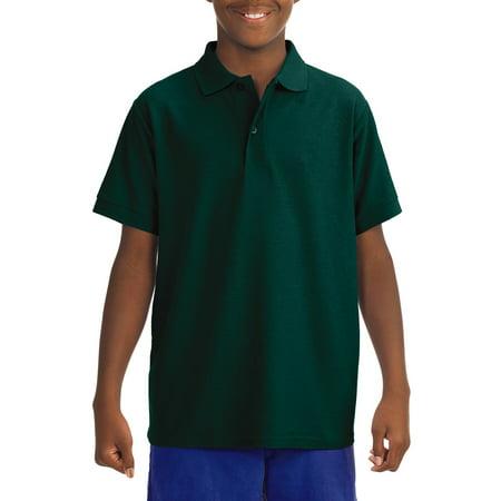 Jerzees School Uniform Short Sleeve Wrinkle Resistant Performance Polo Shirt (Little Boys & Big Boys) ()