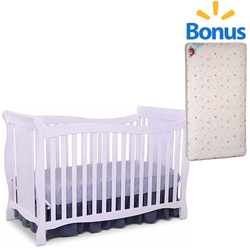 Delta  Brookside 4-in-1 Fixed-Side Crib and Mattress Value Bundle