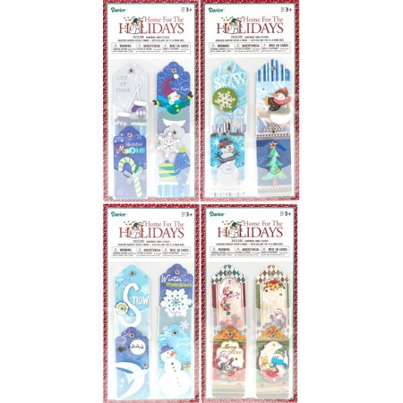 Darice Handmade Christmas Gift Tag Stickers 4 Packs of 4 Tags (16 Count Total) - 5 Handmade Tags