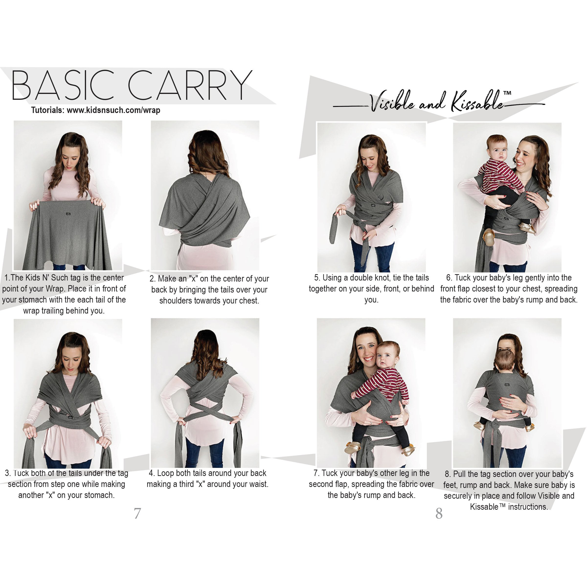 fb732fad761 Kids N  Such 4 in 1 Baby Wrap Carrier and Ring Sling - Use as a Postpartum  Belt or Nursing Cover - FREE Carrying Pouch - Best Baby Shower Gift for  Boys ...