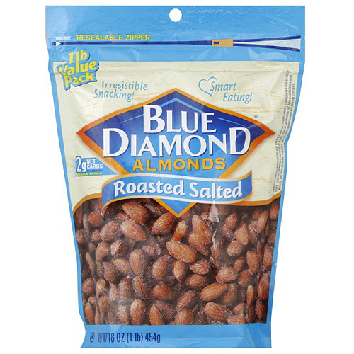Blue Diamond Roasted Salted Almonds, 16 oz (Pack of 6) by Generic