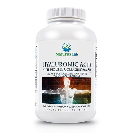 Nature's Lab Hyaluronic Acid with BioCell Collagen & MSM - 120 (Biocell Collagen Type)