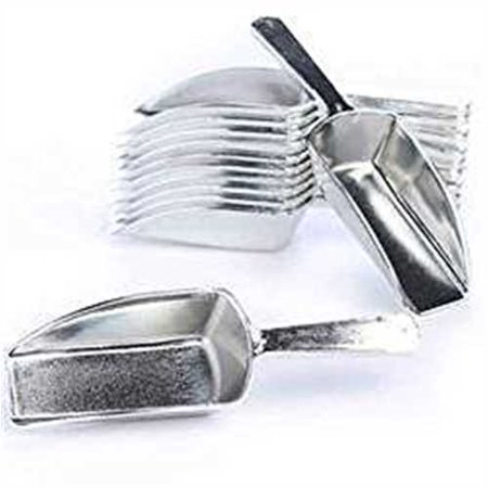 Metallic Silver Hard Acrylic Candy Buffet Scoops - Package of 12 for Wedding, Party and Special Event Candy Buffets - Bowls For Candy Buffet