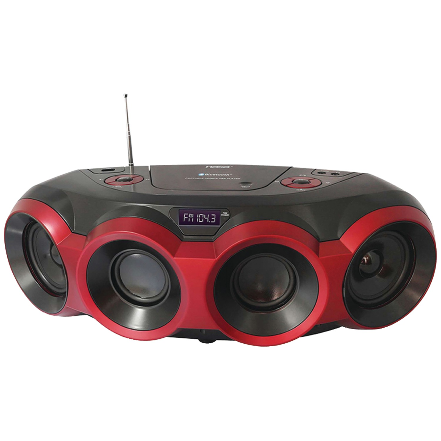 Naxa NPB-266 MP3 CD Party Bluetooth Boombox by Naxa