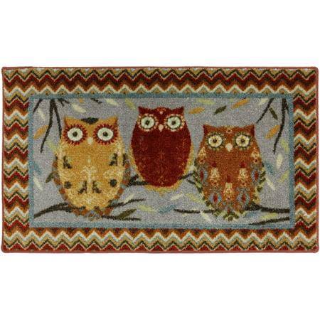 Mohawk Mhk Hoot Owls 20x34 Kitchen Rug