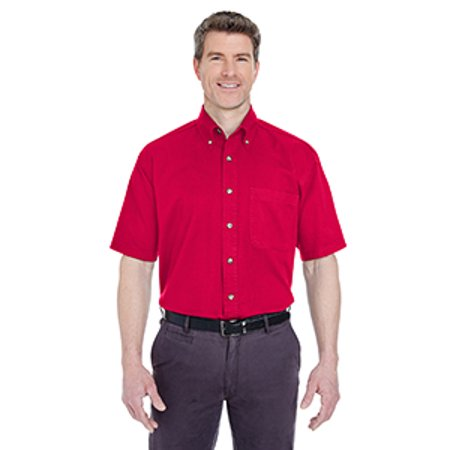 8965C Uc Mens Ss Cypress Twill Shirt Red S - image 1 de 1