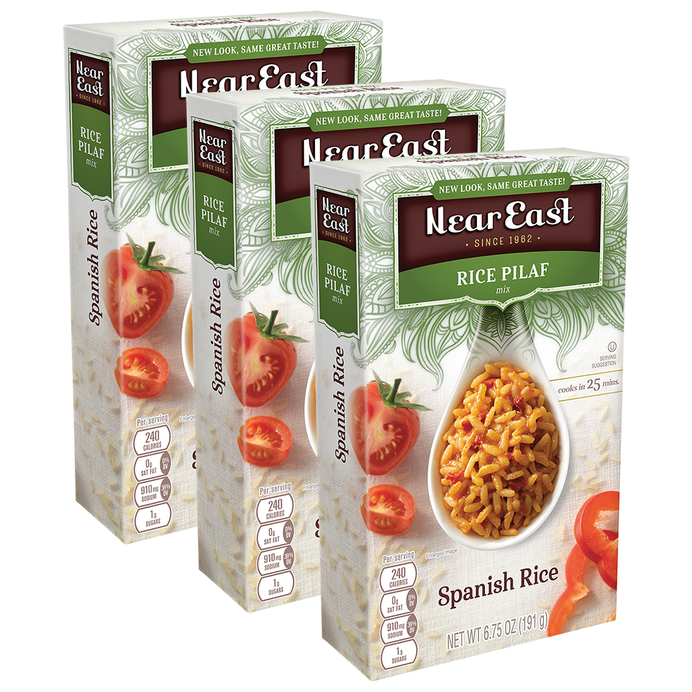 Near East Spanish Rice Pilaf Mix 6.75 oz Box (3 Packs)