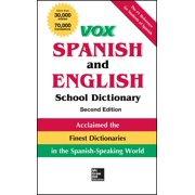 Vox Dictionaries: Vox Spanish and English School Dictionary (Hardcover)