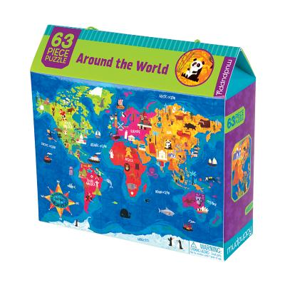 Around the World 63 Piece Puzzle