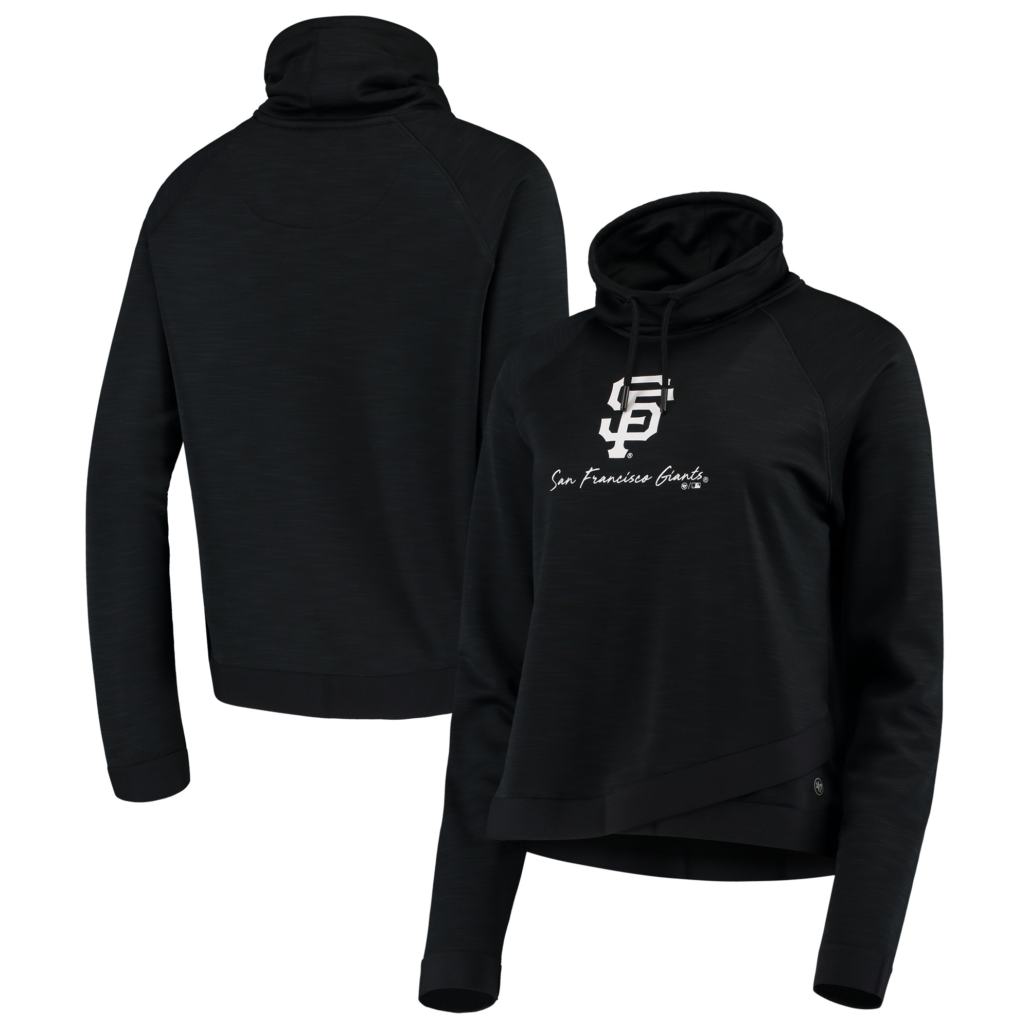San Francisco Giants '47 Women's Commuter Funnel Neck Sweatshirt - Black