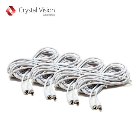 Crystal Vision Premium HD Wireless Camera Power Extension Cable (4 Pack)
