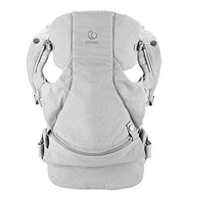 Stokke mycarrier front and back carrier, grey cotton