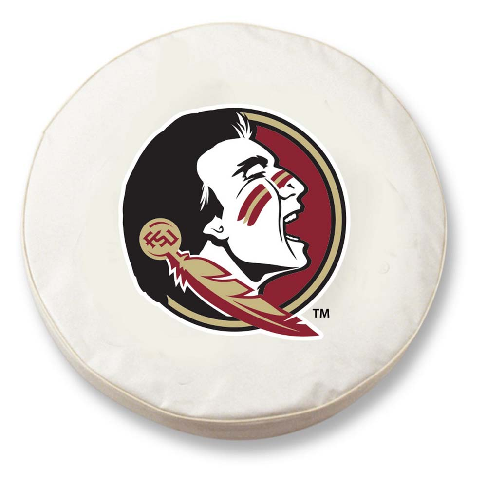 Florida State (Head) Standard Tire Cover (White)