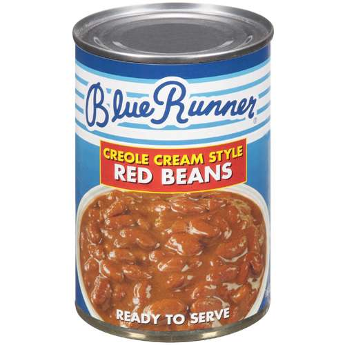 (6 Pack) Blue Runner Creole Cream Style Red Beans, 16 Oz