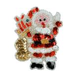 Christmas Sequin Appliques (Expo Int'l Santa with Gifts Christmas Sequin Applique)