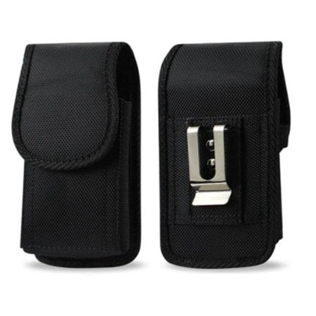 Zebra TC51 TC56 Scanner Holster, Rugged Vertical Case Pouch Cover w/Strong Metal Belt Clip Loops for Zebra TC51 TC52 TC56 TC57 TC20 TC25 (w/Out Keyboard) Handheld Barcode Scanner Touch Mobile