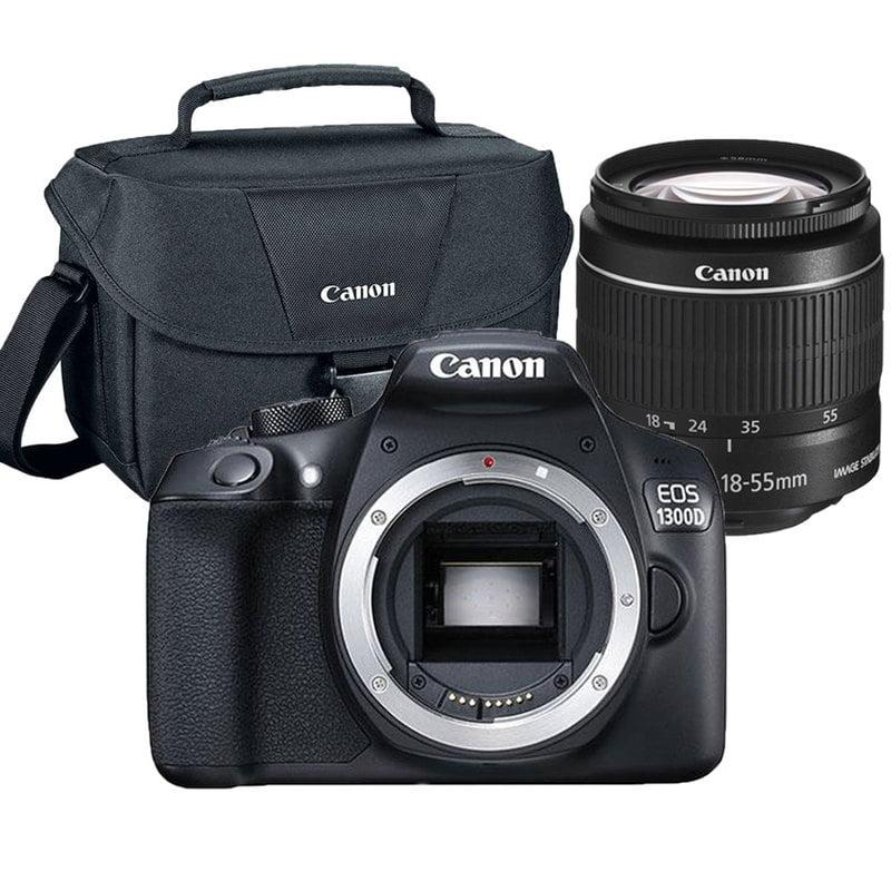 Canon EOS Rebel 1300D/T6 18MP DSLR Camera + 18-55mm Lens + Camera Case