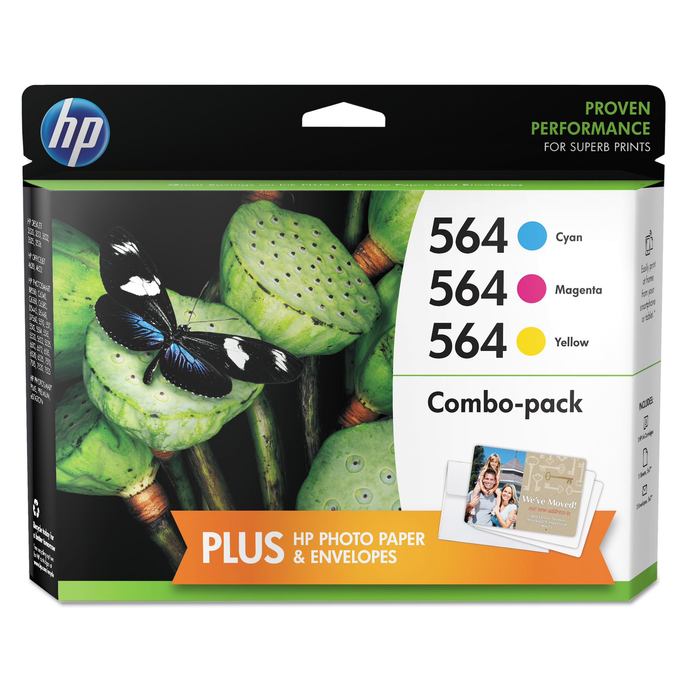 HP HP 564 (N9H57FN) Cyan, Magenta, Yellow Original Ink Cartridge