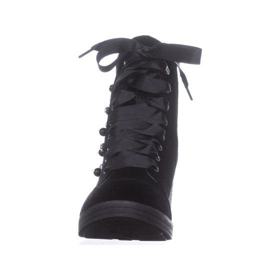 de5563faf72 Womens madden girl Veera Platform Studded Combat Boots, Black Velvet