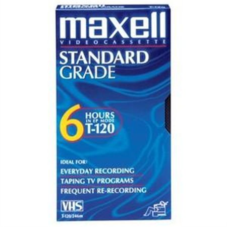 Maxell 214016 Standard Quality VHS Video Tapes, 6 Hours