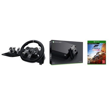 Xbox One X FH4 Racing Wheel Simulation Bundle: G920 Driving Force Dual-Motor Racing Wheel, Forza Horizon 4 - Best Open-World, Dynamic-Seasons Racing Game, Xbox One X 1TB