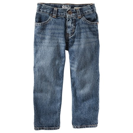 OshKosh B'gosh Boys Classic Fit Jeans- Tumbled Medium (Medium Wash Classic Jeans)