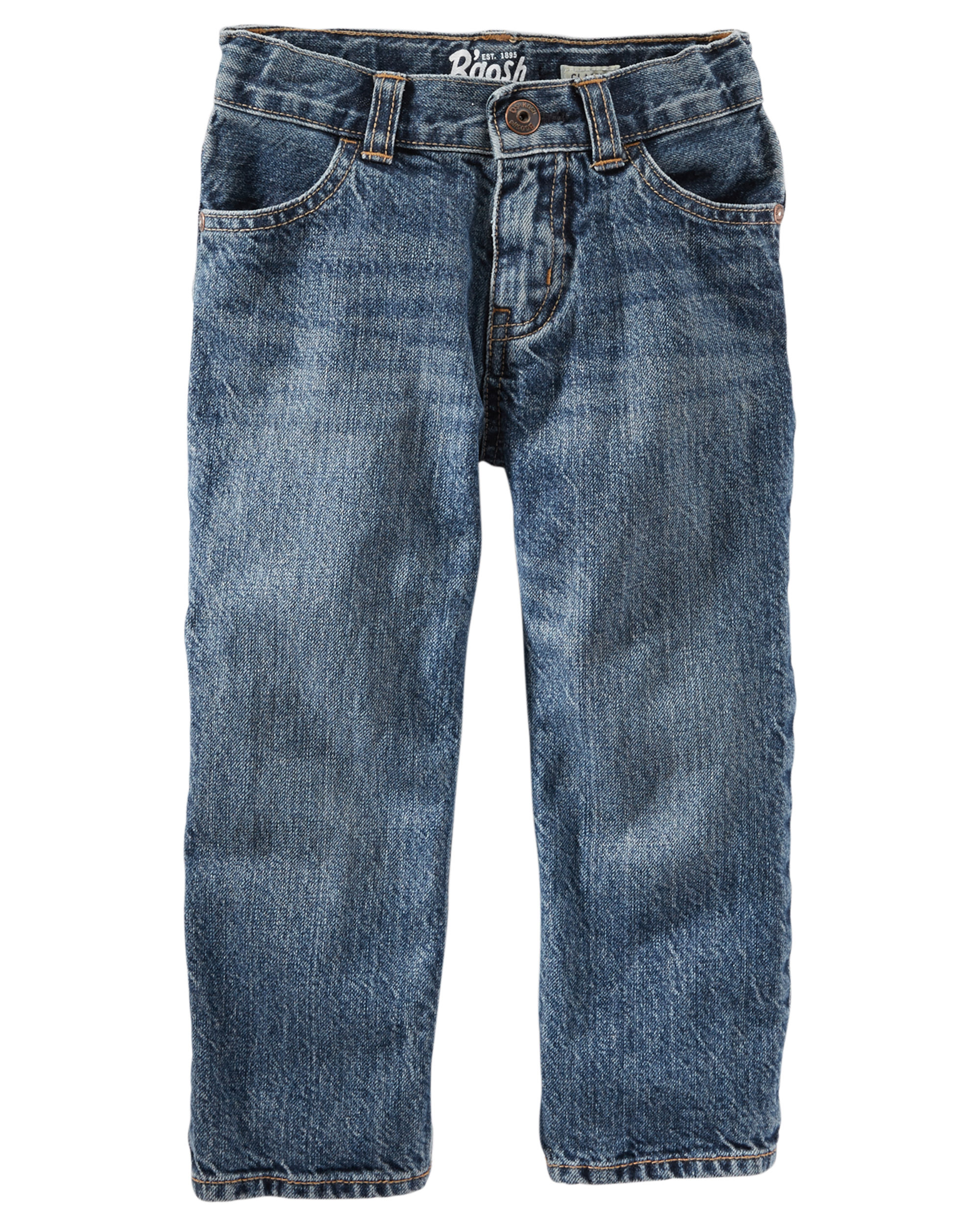 OshKosh B'gosh Boys Classic Fit Jeans- Tumbled Medium Wash