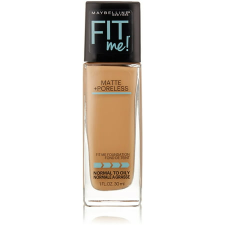 Maybelline New York Fit Me! Matte + Poreless Foundation, Warm Honey [322] 1 oz (Pack of 2)