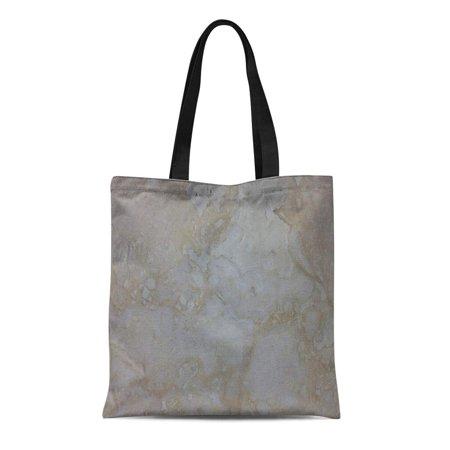 SIDONKU Canvas Tote Bag Rock Stone Look Travertine Limestone Tuscan Reusable Handbag Shoulder Grocery Shopping Bags (Tuscan Rock)