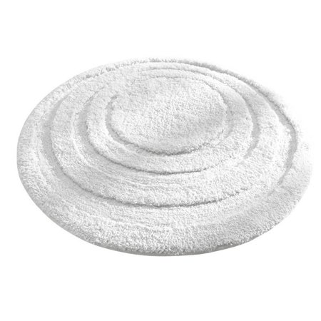 Microfiber Spa Round Bathroom Accent Rug, 24-Inch, White, Soft to touch, constructed to absorb water quickly, and dries fast By -