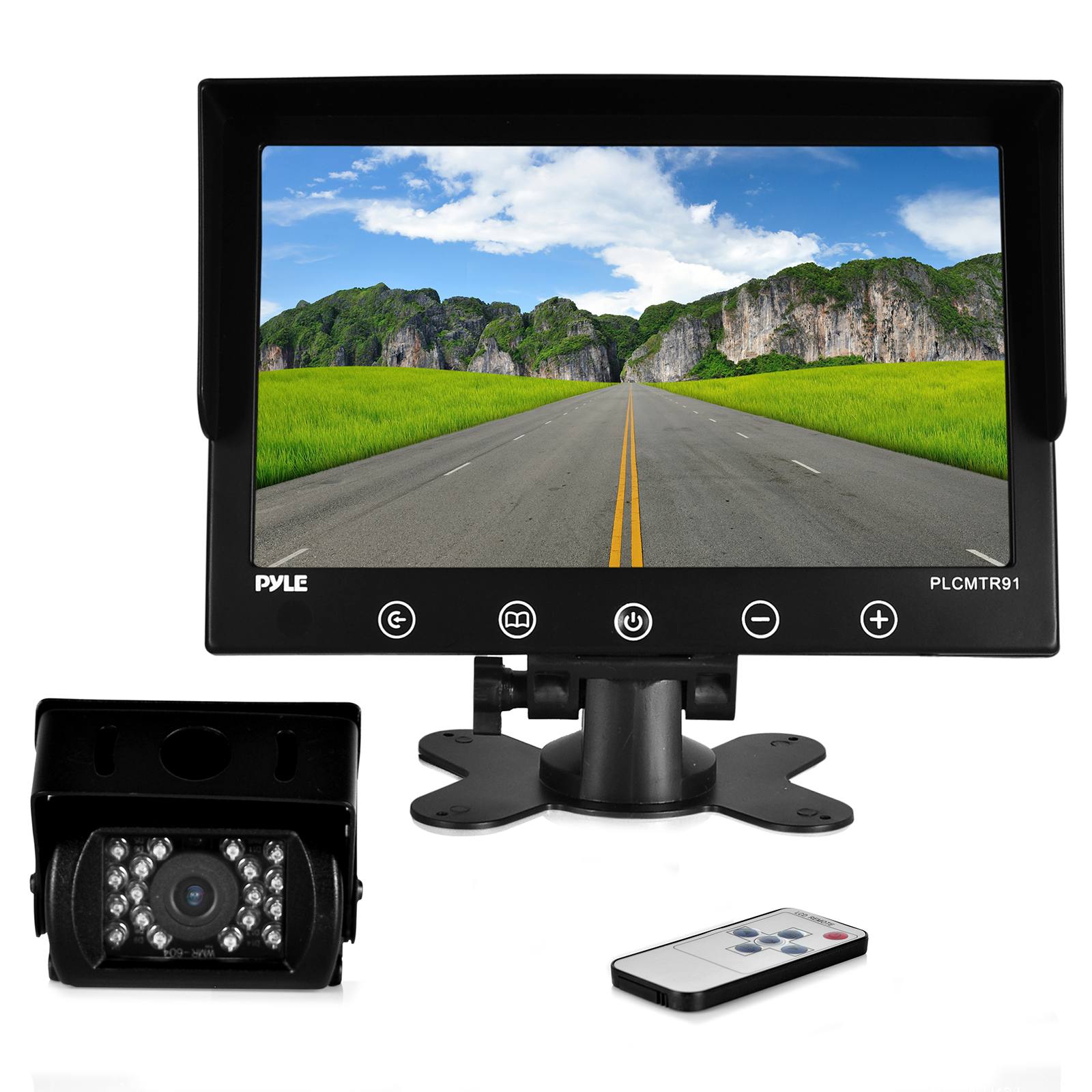"""Weatherproof Rearview/Backup Driving Camera & Video Monitor System - Commercial Grade Night Vision Cam, 9"""" Display (DC 12-24V for Bus, Truck, Trailer, Van)"""