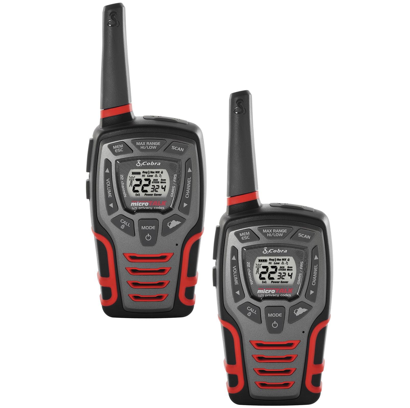(4) COBRA MicroTalk 32 Mile 22 Channel Walkie Talkie 2-Way Radios w/Vox |  CXT595 [Refurbished] - Walmart.com