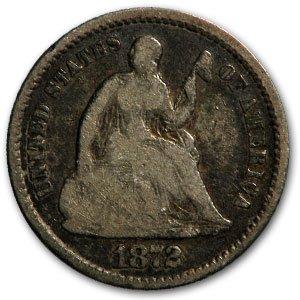 1872 Liberty Seated Half Dime Good
