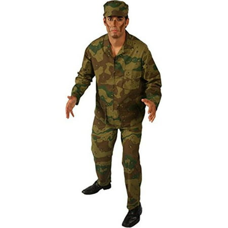 Alexanders Costumes 26-835-T Army Man, Tan - Small - Male Army Costume