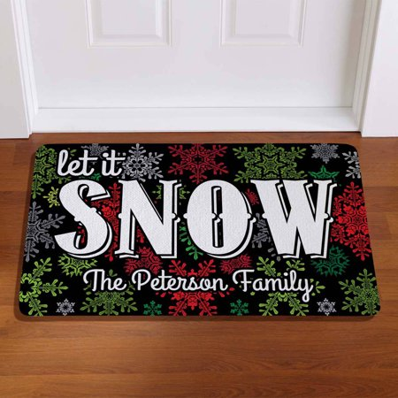 Personalized Let It Snow Doormat (Personalized Snow Buddies)