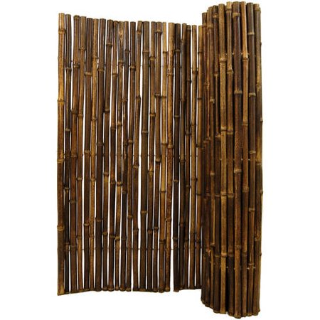 Backyard X-Scapes Bamboo Fencing, Natural Black