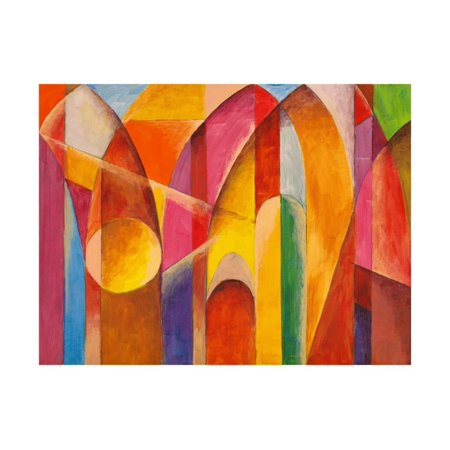 An Abstract Painting Suggestive Of Architecture Print Wall Art By Clivewa
