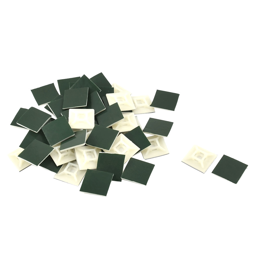 Home Plastic Square Self Adhesive Cord Cable Zip Tie Mount Base 28 x 28mm 50pcs - image 1 of 1
