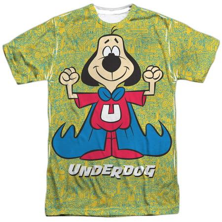 Cartoon Superhero TV Series Super Flex Adult 2-Sided Print T-Shirt