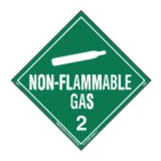 LABELMASTER 35ZL62 Non-Flammable Gas Placard,10-3/4inH G1861846