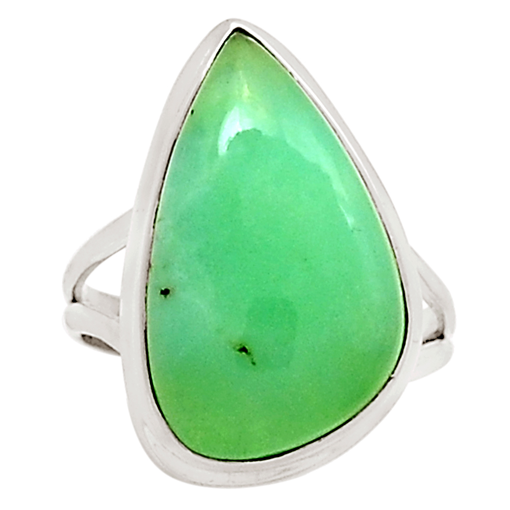 XTREMEGEMS Chrysoprase 925 Sterling Silver Ring Jewelry s.8 9433R by