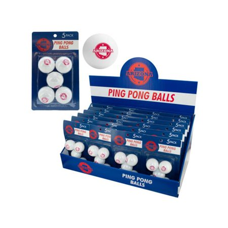 Bulk Buys HB921-24 Arizona Ping Pong Balls Countertop Display