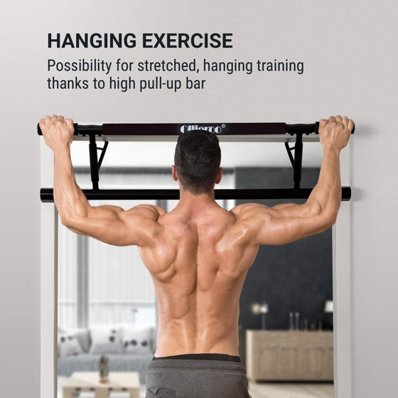 da68f1f27eef Mllieroo Pull Up Bar Doorway for Exercise No Assembly Required Chin Up Bar  at Home - Walmart.com