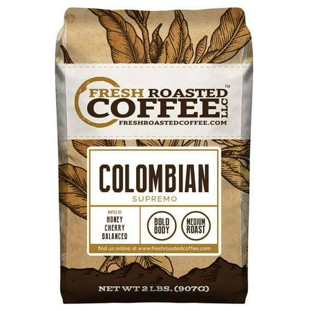 Fresh Roasted Coffee LLC., 100% Colombian Supremo Coffee, Whole Bean (2 LB.) (San Francisco Whole Bean Coffee)