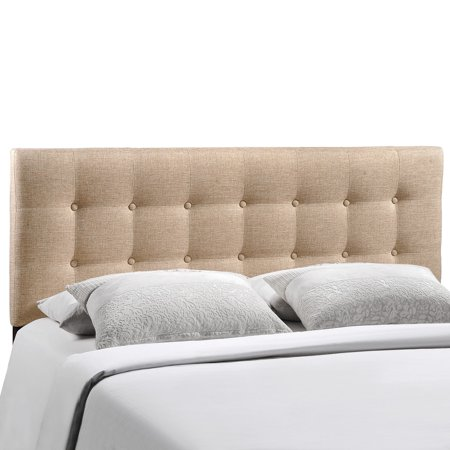 Modern Contemporary King Size Fabric Headboard, Beige Fabric - Walmart.com