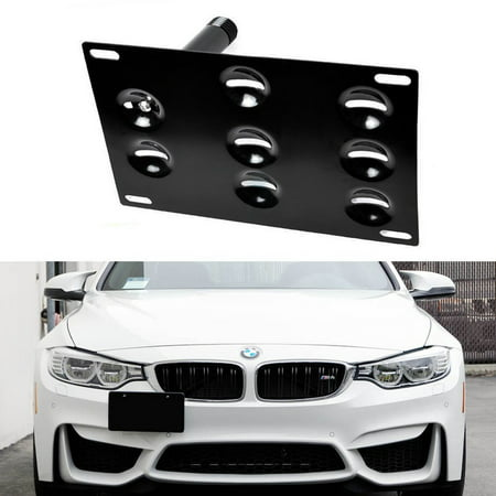 Mini Cooper Performance Exhaust - iJDMTOY Front Bumper Tow Hole Adapter License Plate Mounting Bracket For BMW F30 F32 F10 F25 F26 F15 2 3 4 5 Series i3 X1 X3 Z4 and MINI Cooper, etc