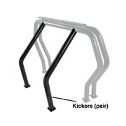 Go Rhino 9370B Rhino Bed Bars Kickers Black Between Tire Wells